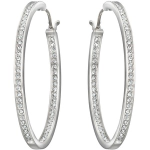 limpid in sight low cost 100% quality quarantee swarovski crystal hoop earrings