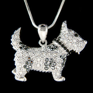 swarovski dog necklace