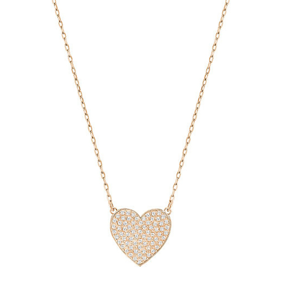 swarovski heart necklace