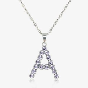 swarovski name necklace