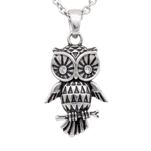 swarovski owl necklace