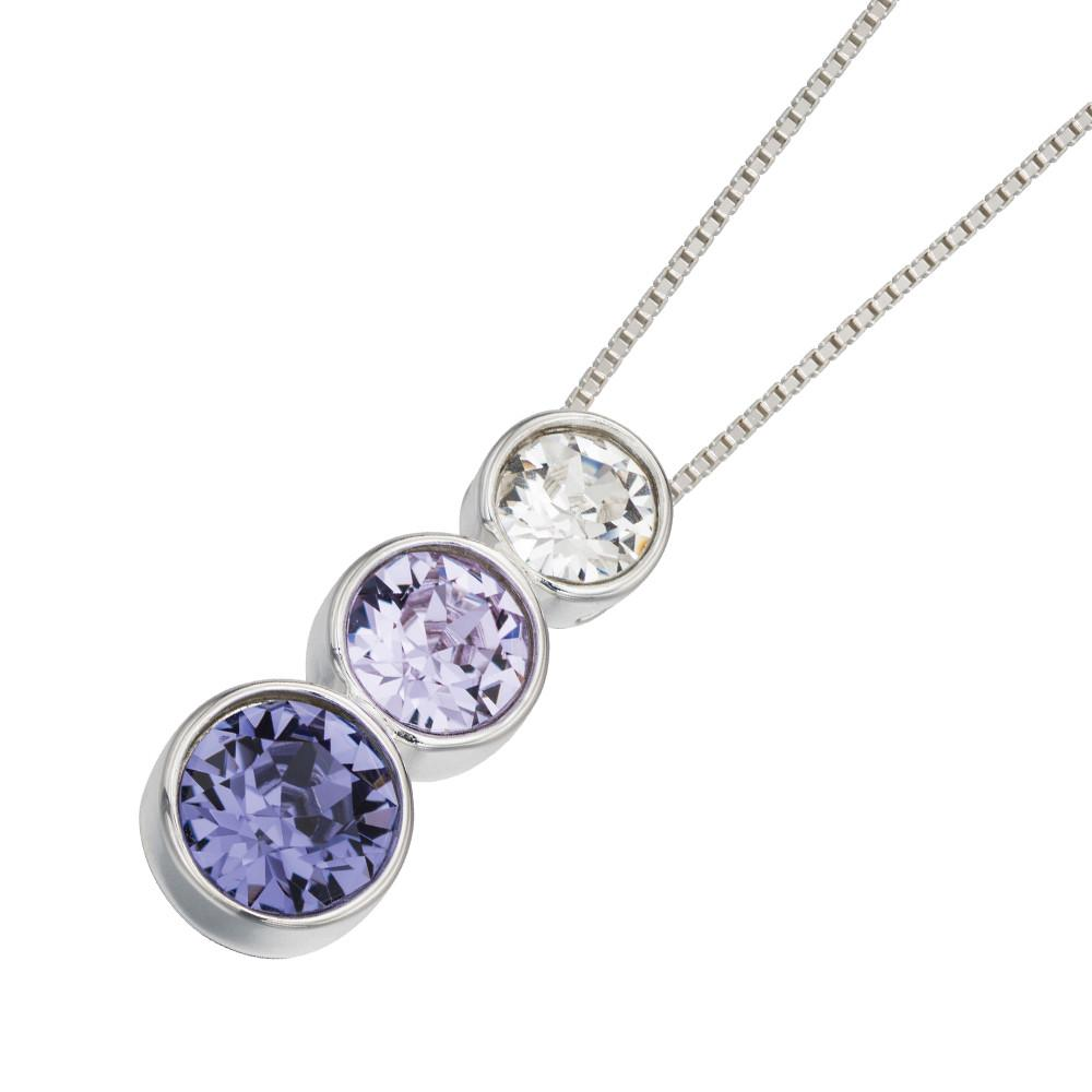 swarovski purple necklace
