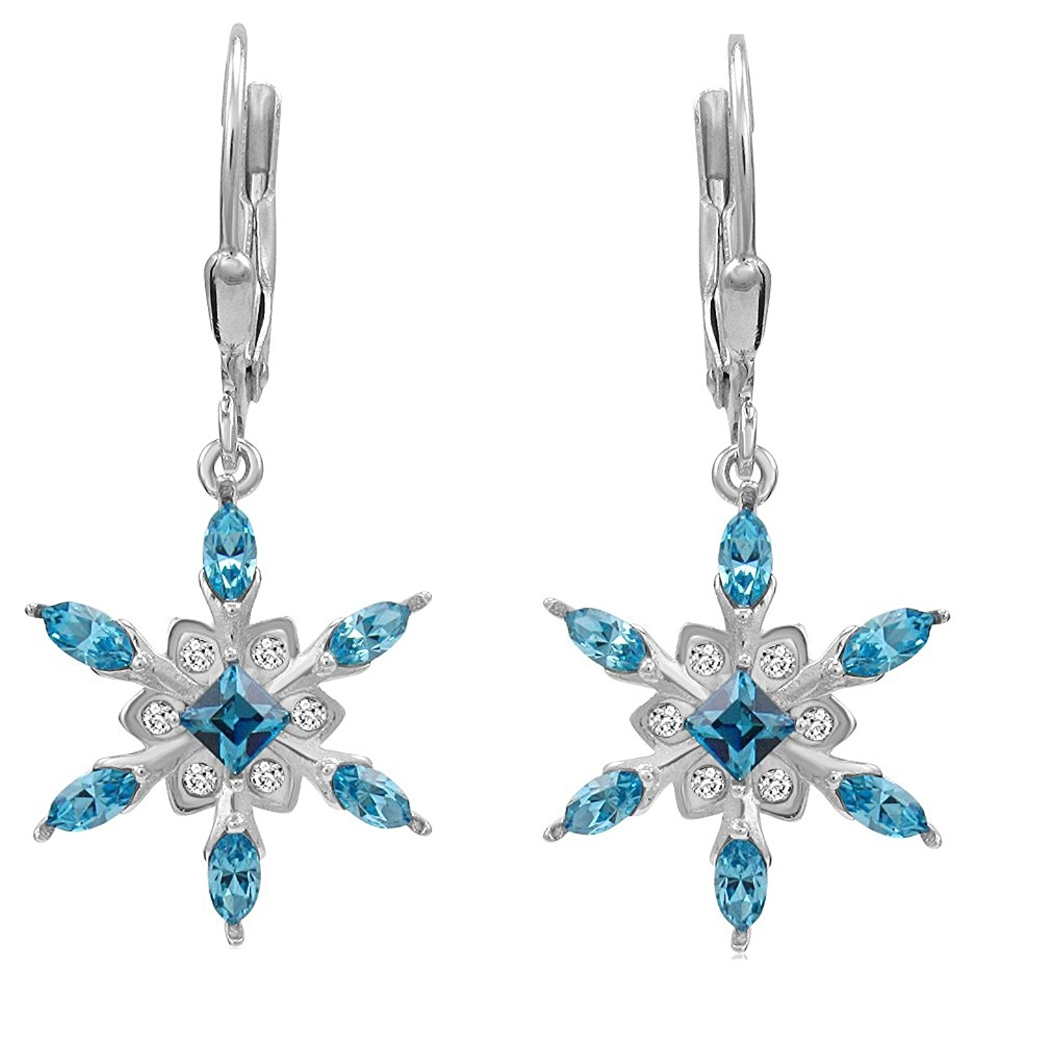 swarovski snowflake earrings